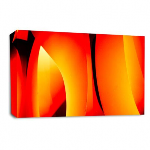 Modern Abstract Wall art Picture Black Orange Grey Stripes Print